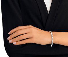 LOVE. Tennis Bracelet from #Swarovski
