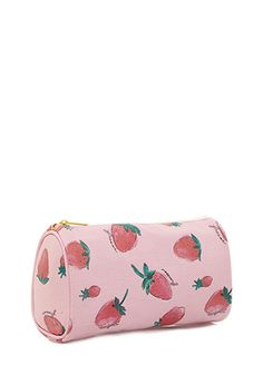 Strawberry Print Cosmetic Bag | Forever 21 - 1002247080