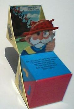 Libros Pop-Up Books Cards: Curioso Libro Pop-Up en forma de Cubo Desenrollable