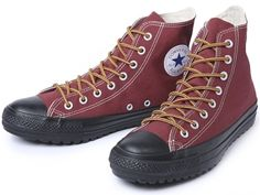 All Star Canvas Tough Boots Hi. Like hiking shoes but wayyyy cooler. ;)