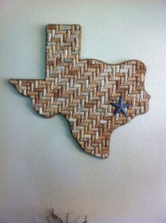 Fun DIY or just buy one! Huge Texas Wine Cork Art or any state by craftsbysyzdek on Etsy, $175.00