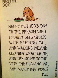 Happy Mother's Day from Dog