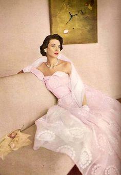 Harper's Bazaar May 1948 Off The Shoulder, Shoulder Dress, 40 Years Old, Dresses, Fashion, Vestidos, Moda, Gowns, 40 Rocks