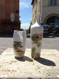 Materia Ceramica Taticchi - vasi dipinti a mano - cittadina Medioevale - paesaggio umbro - Montefalco - strade del vino