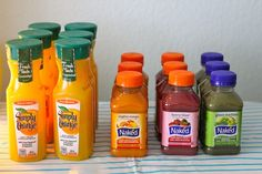 you are my fave: first birthday party, colorful juice display
