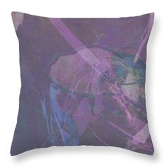 Wabi-sabi Ikebana Remix In Purple And Blue Throw Pillow for Sale by Kristin Doner Blue Throw Pillows, Pillow Sale, Wabi Sabi, Ikebana, Poplin Fabric, Table Linens, Wall Art, Purple, Prints