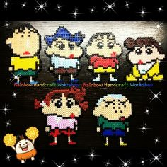 Shin Chan characters perler beads by shirley117