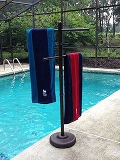 Outdoor Lamp Company Outdoor Spa and Pool Towel Rack - Bronze
