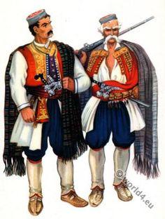 Montenegro national costumes from Krivosije.