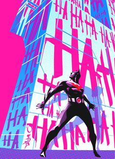 Batman Beyond by Dustin Nguyen Batman Fan Art, Batman Comic Art, Gotham Batman, Batman Comics, Batman Robin, Bob Kane, Cartoon Drawings, Cartoon Art, Cyberpunk