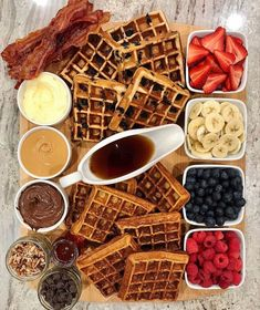 Charcuterie Recipes, Charcuterie And Cheese Board, Think Food, Love Food, Breakfast Platter, Breakfast Waffles, Breakfast Ideas, Breakfast Pictures, Breakfast Buffet