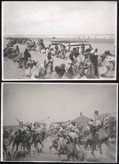 2 FOTOGRAFIAS DE CABO JUBY -LA MIA EN CAMELLO DURANTE LA FORMACION PARA IZAR LA BANDERA TRICOLOR - Foto 1