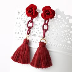 Fashion Strass Cadeau Femmes Tassel Ear Stud Drop Dangle Boucles d/'oreilles Bijoux New