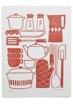 This print of red kitchen utensils is going to be perfect in my kitchen. I…