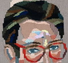 A detail from a woven tapestry, signifying a wordless witness to the events of the 1990's, the AIDS crisis & how people continued to be homophobic.