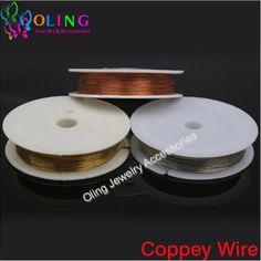 0.3MM 20M/Roll Copper Wire plated Silver Golden Beading Findings DIY Bracelet earrings choker jewelry making Accessories 2016