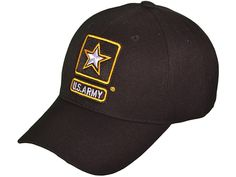084ce79ca81 US Army Logo Embroidered Cap Military Black Baseball Hat Mens - C9183CCDRHU