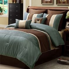 Maxwell 8-pc. Striped Comforter Set