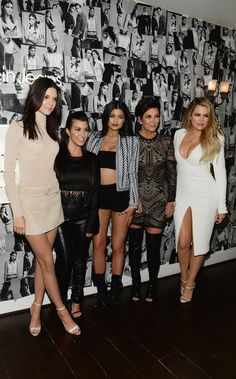 Kendall, Kourtney, Kylie, Kris, and Khloe took a photo to celebrate Kendall's #MyCalvins campaign.