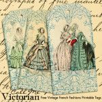 vintage french fashion printable tags