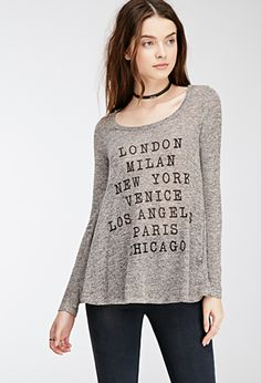 [I WANT THIS SHIRT too bad they discontinued it! :( ] FOREVER 21 $16 Cities Graphic Trapeze Top - Not Available Anymore