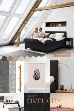 Bring nature into your bedroom! Be inspired by its simplicity and create a balanced place for you to relax. Photo: jensen-beds.com hermancph.dk copenhanger.com paper-collective.com jotun.com