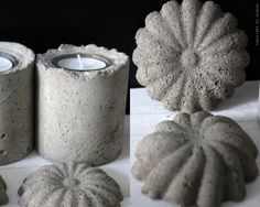 DIY: Cement candle holders