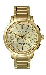 Nautica NCT 800 Chronograph Gold-tone Women's watch #N22563M