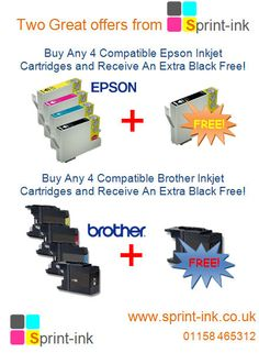 SAVE with our Epson and Brother Ink Cartridge Offer Printer Toner, Toner Cartridge, Epson, How To Be Outgoing, Brother, Ink, Reading, Board, Reading Books