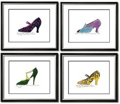 Limited Edition: Andy Warhol 1955 Shoe Prints Beautiful Home Decor Accents Enjoy & Be Inspired More Beautiful Hollywood Interior Design Inspirations To Repin & Share @ InStyle-Decor.com Beverly Hills Happy Pinning