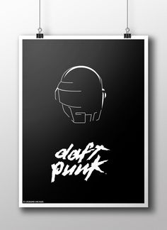 Daft Punk Minimalist design Poster #daftpunk #design #poster