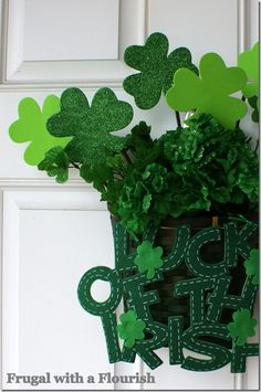 St Pattys day door decoration