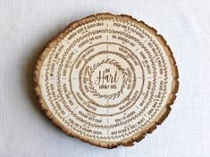 family tree wood slice, family tree art, genealogy chart, ancestry, wood burning, personalized, 5th