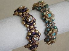 Nicole Bracelet Tutorial  Chaton Montees are simply beautiful! And this bracelet is the perfect show case for them! It also features fun Czechmates