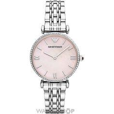 Ladies Emporio Armani Gianni T-Bar Watch AR1779