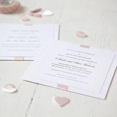 Elegance Wedding Invitation from notonthehighstreet.com
