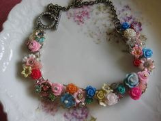 Endless Beauty vintage flower assemblage one of a by originalnoell, $58.00