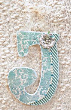 Decorated Wooden Nursery Letters Custom Baby by TheRuggedPearl, $15.75    Soooo cute