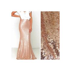 Rose Gold Sequin Maxi Skirt by SPARKLEmeGORGEOUS on Etsy