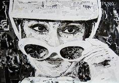 audrey hepburn collage by Ovidiu Solcan, via Behance