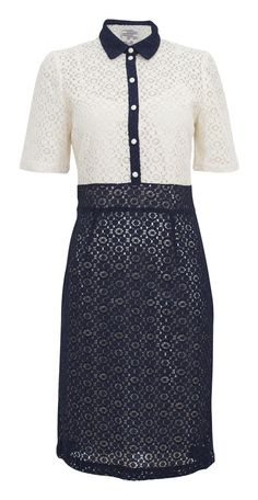 Styleofmary: The Psychiatry Foundation's conference. Baum und Pferdgarten Harika dress is a two tone lace dress in white and navy.
