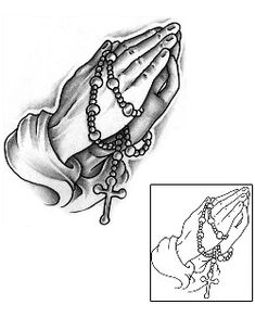 Praying Hands Tattoos J0F-00008 Created by Jackie Rabbit