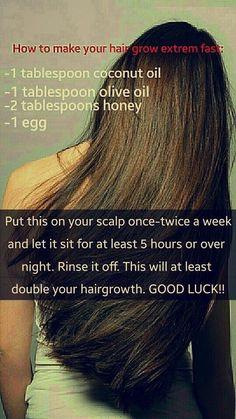 Hair Growth Tips, Hair Care Tips, Hair Tips, Hair Growth Mask, Fast Hair Growth, Natural Hair Care, Natural Hair Styles, Natural Beauty, Natural Oils
