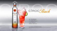 EthnoNightlife.com | OPEN BAR | CIROC MIXED DRINK RECIPES PEACH ON THE BEACH