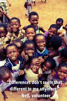 """Differences don't seem so different anymore."" Volunteering with CCS can help you see the world in a new way. #volunteer #CCS"