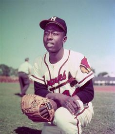 Hank Aaron, the REAL Home Run Champ. Unaltered.