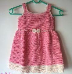 Crochet For Children: Summer Peach Toddler Dress - Free Crochet Pattern