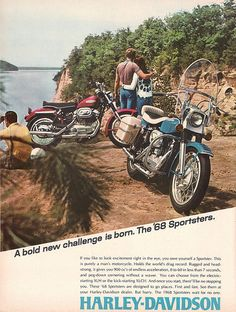 Old Classic Harley-Davidson Motorcycles Harley Panhead, Harley Davidson Knucklehead, Classic Harley Davidson, Vintage Harley Davidson, Harley Davidson Motorcycles, Hd Sportster, Triumph Motorcycles, Motorcycle Companies, Motorcycle Posters