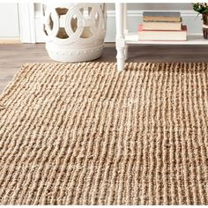 Safavieh Casual Natural Fiber Hand-Woven Natural Accents Chunky Thick Jute Rug (3' x 5') - 12349078 - Overstock - Great Deals on Safavieh 3x5 - 4x6 Rugs - Mobile