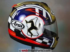 Arai Corsair V Isle of Man TT Side View